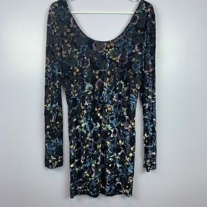Intimately Free People Velvet Floral Dress Size L